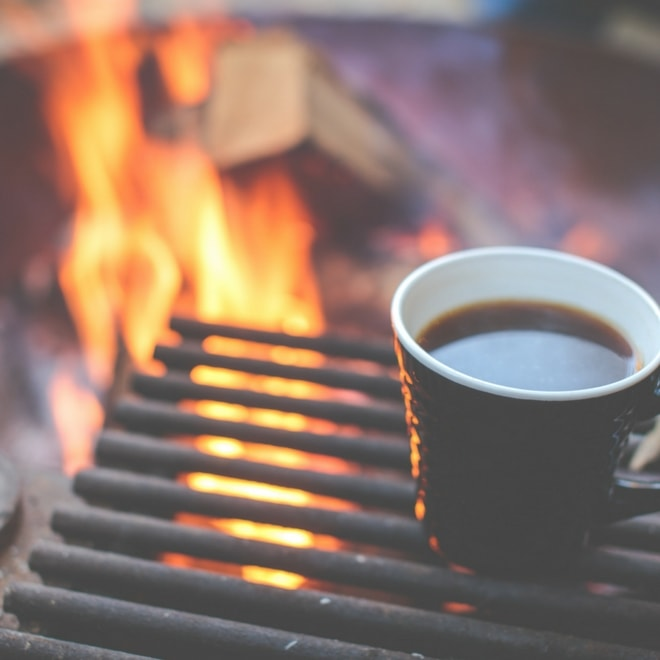 coffee around the campfire
