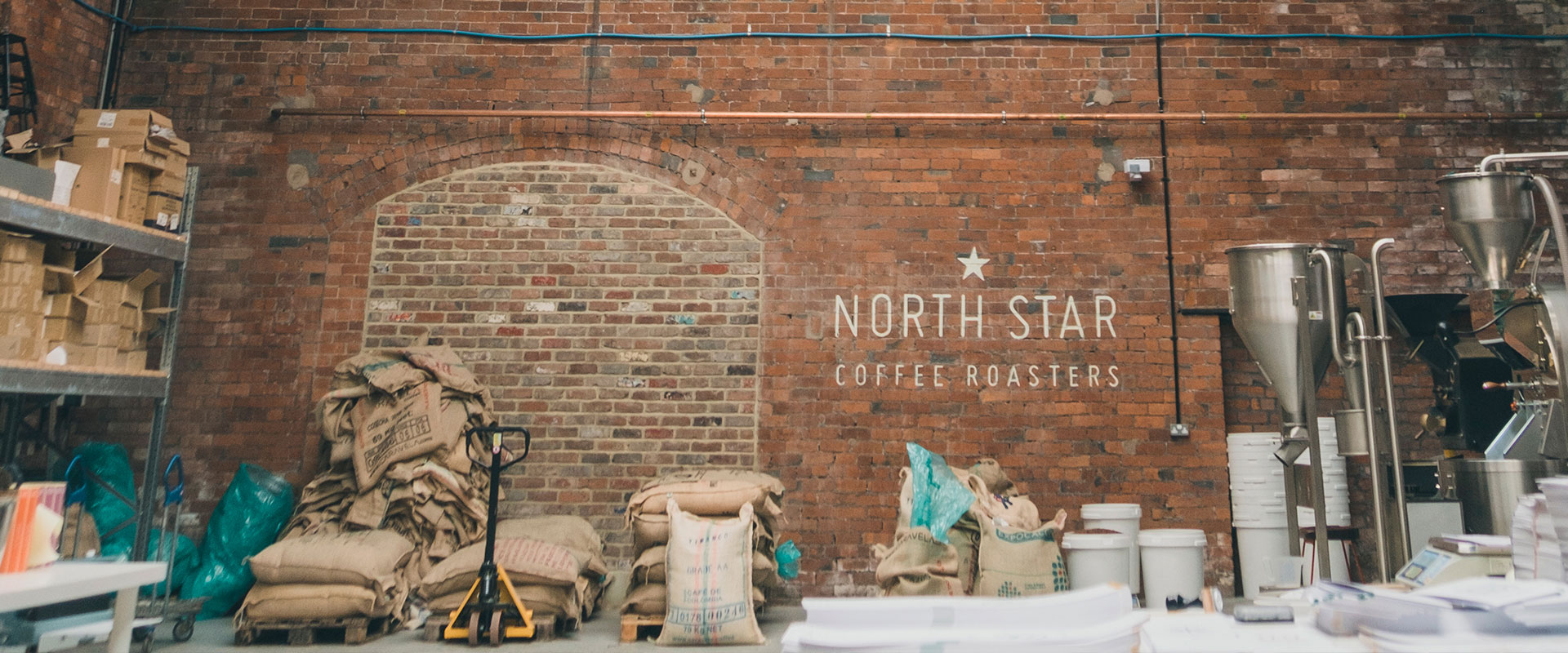 coffee roastery in old warehouse